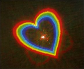 a heart which appears with the holospex glasses !