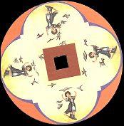 Les hirondelles : disque de toupie FANTOCHES par Emile REYNAUD