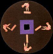 Le voltigeur : disque de toupie FANTOCHES par Emile REYNAUD