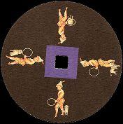 Le chien et le dompteur : toupie FANTOCHES disc by Emile REYNAUD