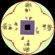 Les papillons : disque de toupie FANTOCHES par Emile REYNAUD