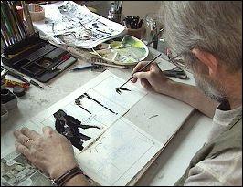 Grzegorz ROSINSKI dessinant -  photo