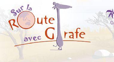 Sur la route avec Girafe - Ecran d'accueil du CD-Rom