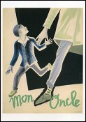 Project for Film Poster (Mon Oncle - 1958) Drawing Pierre Etaix