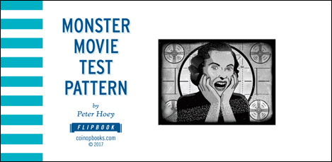 MONSTER MOVIE TEST PATTERN - Couverture de Peter HOEY