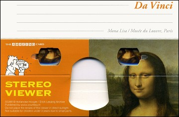 Mona Lisa by DA VINCI - Stereoscopic viewer 3D