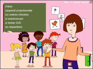 Menu des jeux interactifs présents sur le CD-rom