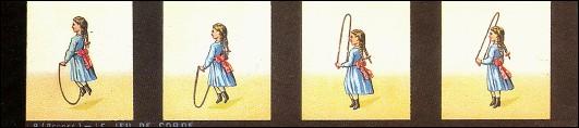 Bande de PRAXINOSCOPE d'Emile REYNAUD : N° 9 - LE JEU DE CORDE (1ère série)