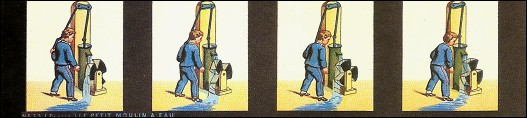 Bande de PRAXINOSCOPE d'Emile REYNAUD : N° 13 - LE PETIT MOULIN À EAU (1ère série)