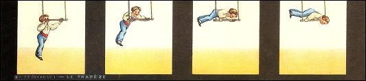 Bande de PRAXINOSCOPE d'Emile REYNAUD : N° 17 - LE TRAPÈZE (2ème série)