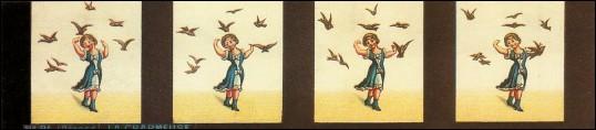 Bande de PRAXINOSCOPE d'Emile REYNAUD : N° 21 - LA CHARMEUSE (3ème série)