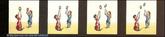 Bande de PRAXINOSCOPE d'Emile REYNAUD : N° 26 - LE JEU DE GRÂCES (3ème série)