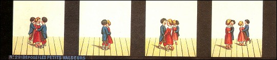 Bande de PRAXINOSCOPE d'Emile REYNAUD : N° 29 - LES PETITS VALSEURS (3ème série)