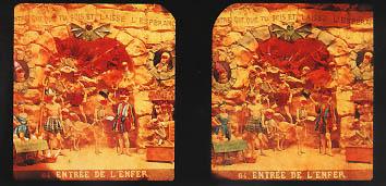 Diableries : l'entrée de l'Enfer - vue stéréoscopique