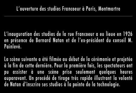 Ouverture des studios Francoeur
