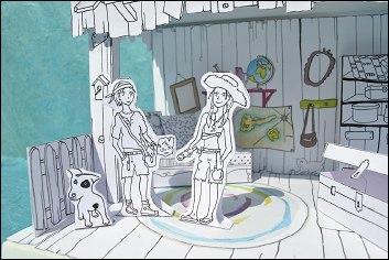 Le petit théâtre La Cabane aux Trésors - détail