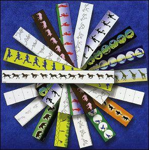Les bandes animées du PRAXINOSCOPE en papier de Rufus Butler SEDER