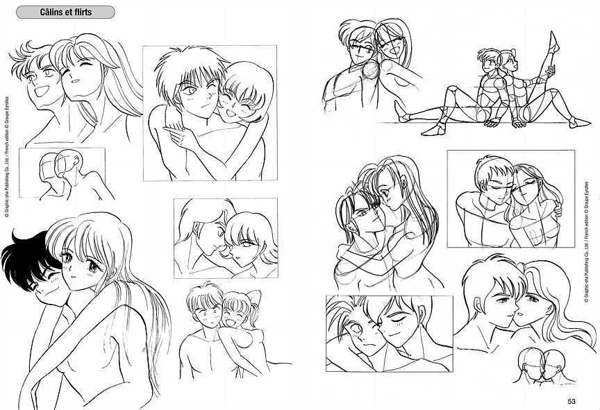 Book le dessin de manga volume 11 couples - Dessin manga couple ...