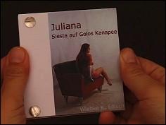 Juliana. Siesta auf Golos Kanapee - un flip book de Wiebe K. FÖLSCH (Allemagne - 2005) - couverture