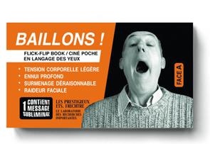 BÂILLONS ! - Couverture recto du flipbook de Serge MORIN
