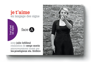 JE T'AIME un flip-book de Serge MORIN (2006 / France) - Couverture Recto