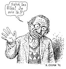 Robert CRUMB self-portrait in 1992