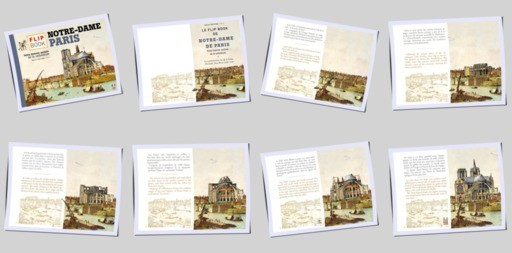 NOTRE-DAME DE PARIS - 8 pages en miniatures
