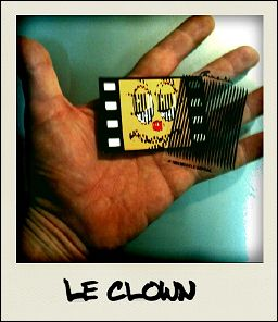 LE CLOWN - la carte vue en photo