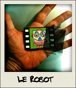 THE ROBOT - the card seen on photograph