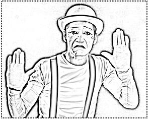 Le mime mexico-espagnol Miguel CHISPA González - image