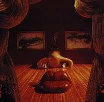 Salvador Dali Mae West Hall - a stereoscopic view
