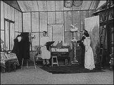 A mix-up in the gallery (1910) - a film by Georges MÉLIÈS - picture