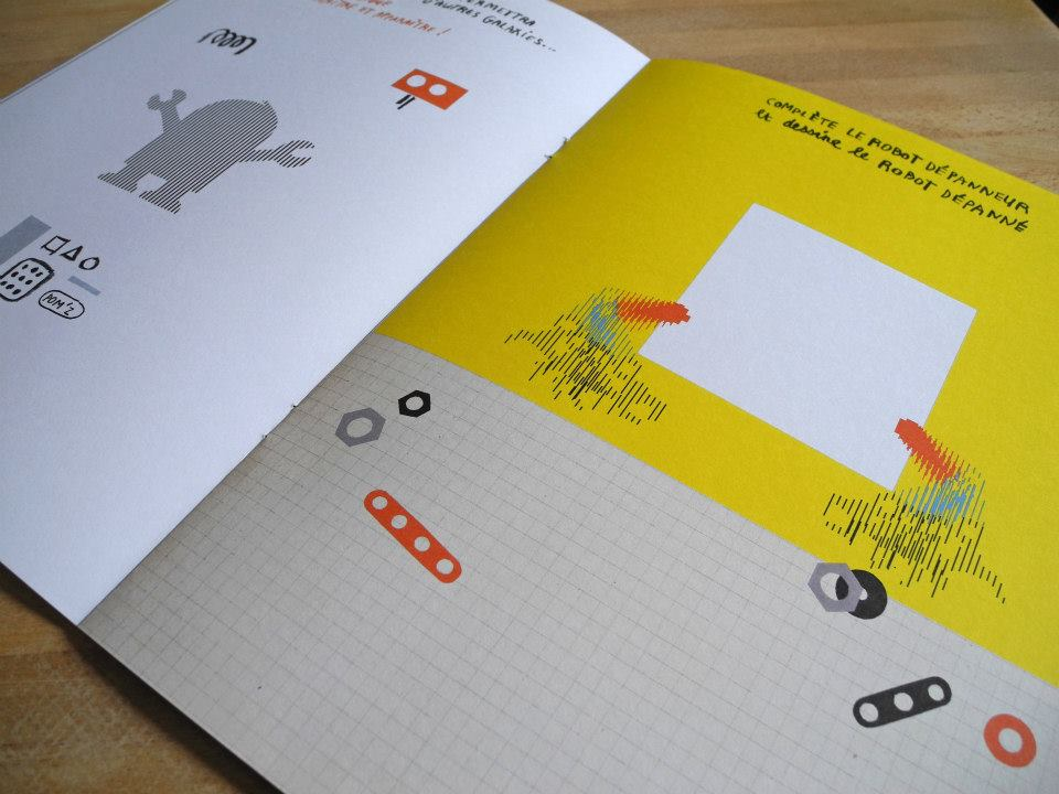 Book : MES ROBOTS EN PYJAMARAMA - pages 14 & 15