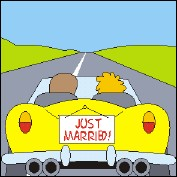 JUST MARRIED ! - Un flip-book et sa carte de voeux (Allemagne - 2007) - image 1