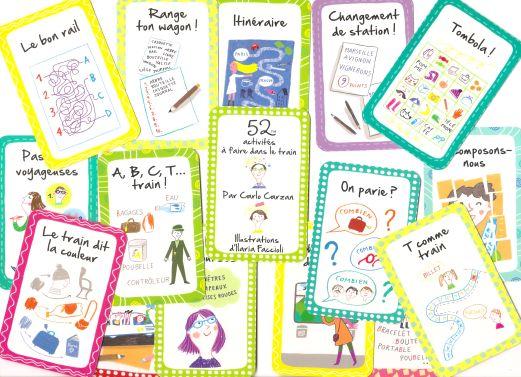 52 activités à faire dans le train - Few french cards