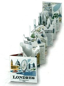 The pop-up book panorama in London by Sarah McMenemy unfolded