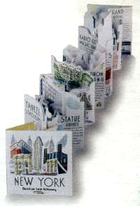 The pop-up book panorama in New York by Sarah McMenemy unfolded