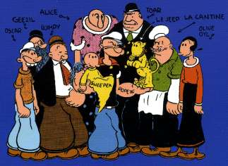 La famille Popeye au complet par Elzie Cristler SEGAR