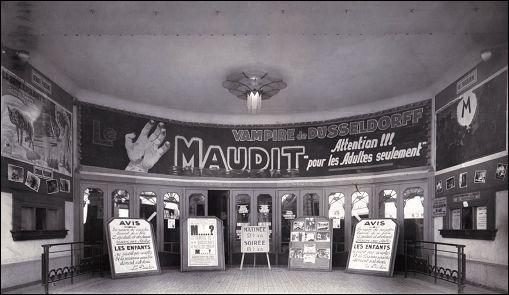 Présentation du film M LE MAUDIT dans le hall du cinéma PALLADIUM à Avignon (France)