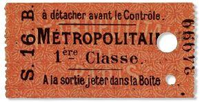 Ticket de métro de 1ère classe - 1903
