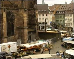 the market on the Cathedral Square in Freiburg (Germany) - Picture