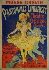 Affiche des Pantomimes lumineuses de Emile REYNAUD