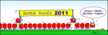 Voeux de l'année 2011 par Jac L...